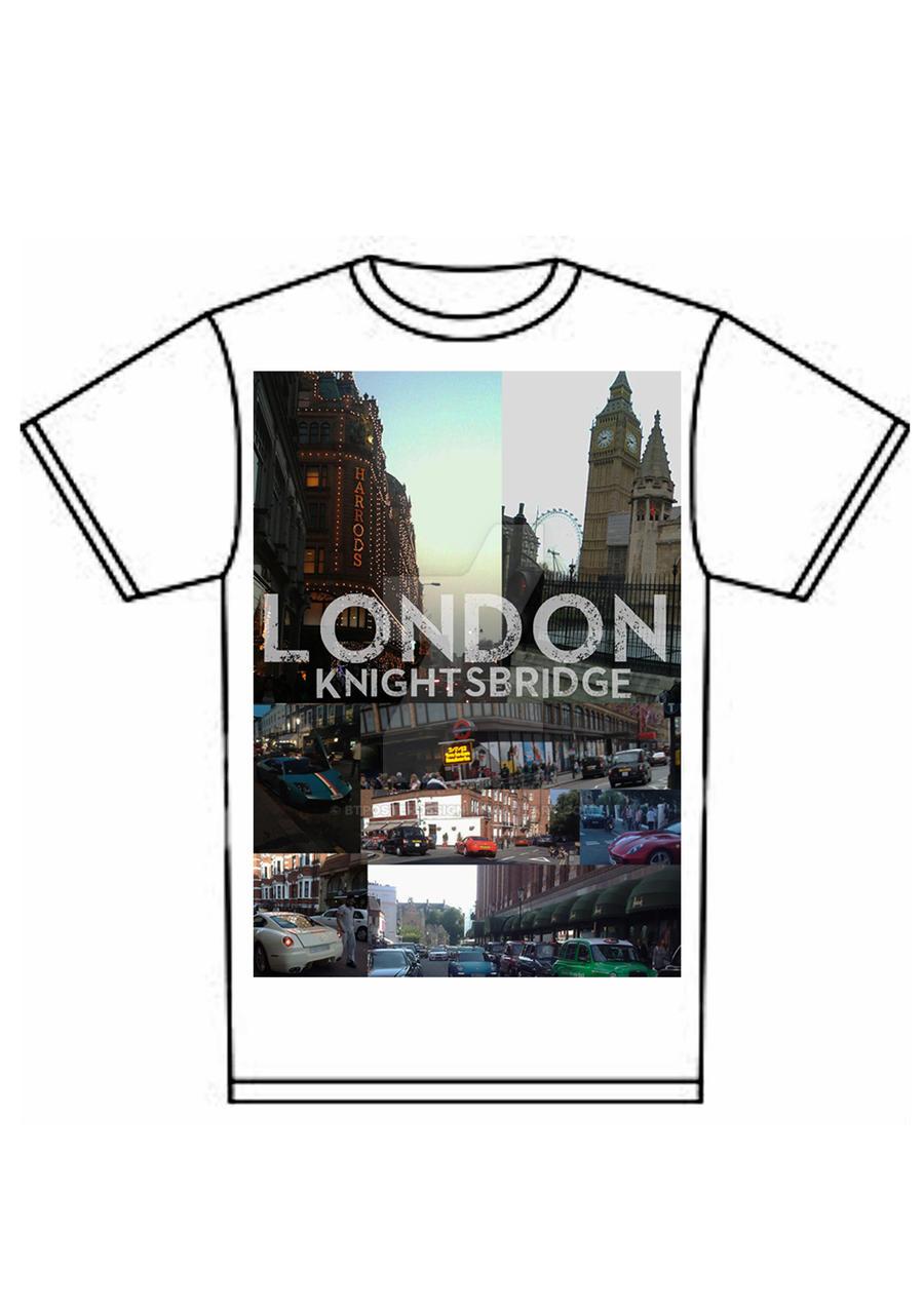 Shirt design london -  London Cityscape Knightsbridge T Shirt Print By Btposterdesign
