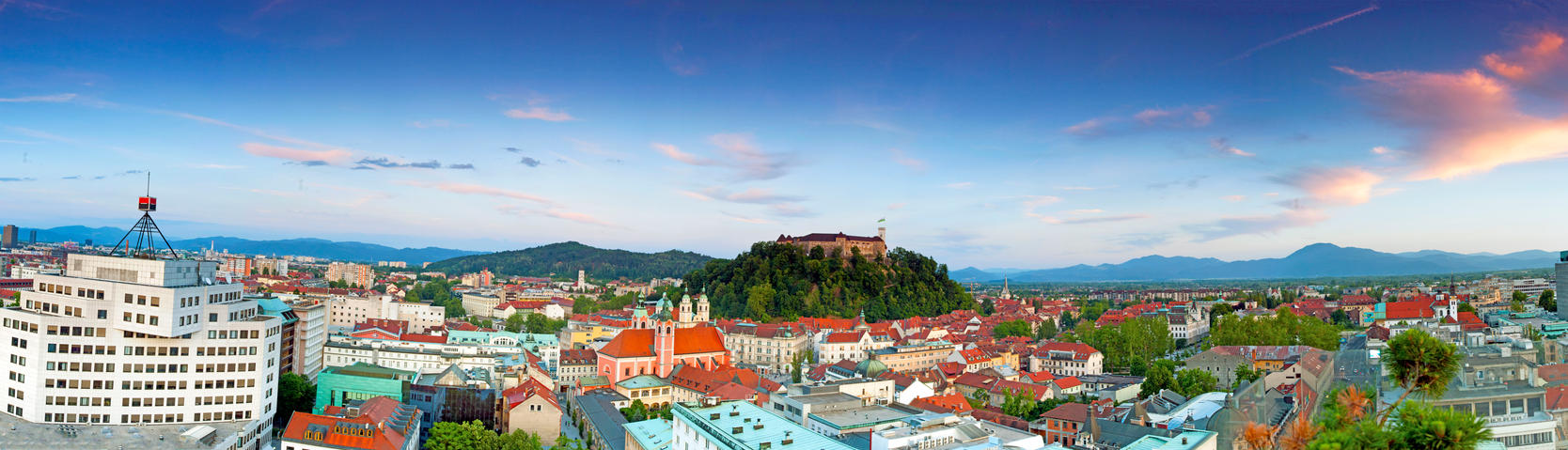 Ljubljana, panoramic view by luka567