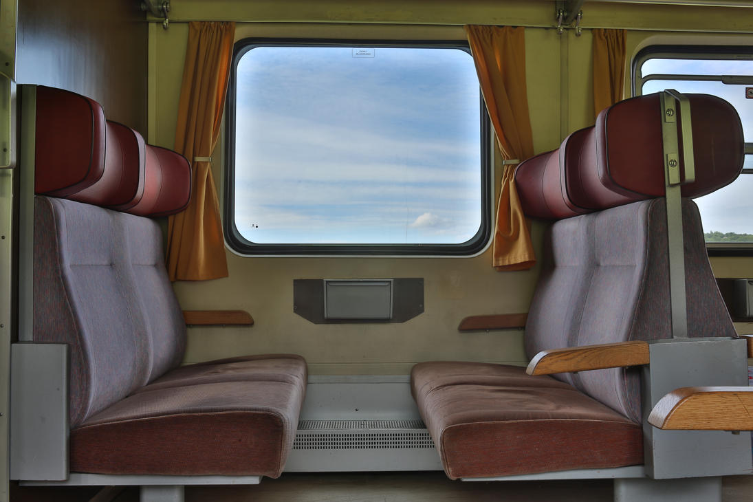 View through the train's window by luka567