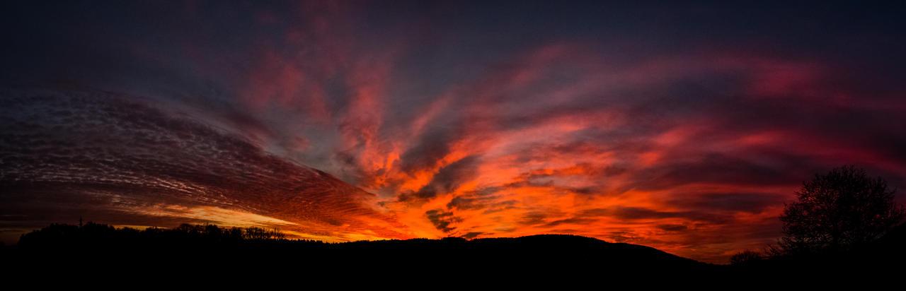 Winter sunset - panoramic version by luka567