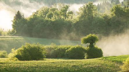 After the rain - rural Slovenian landscape