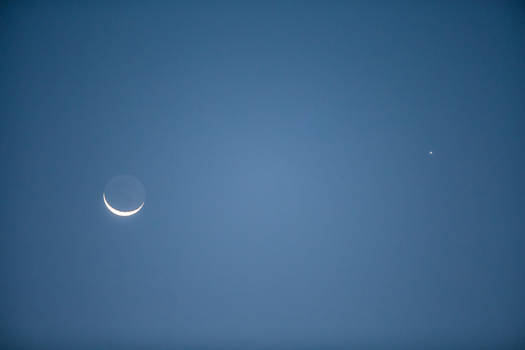 The Moon and Venus show us the way