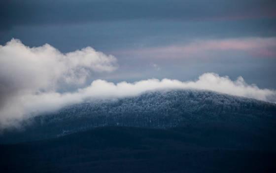 Slovenian winter fairytale landscape