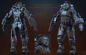 Powered Exoskeleton WIP by sash4all