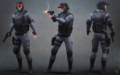 SciFi Sniper low poly redesign