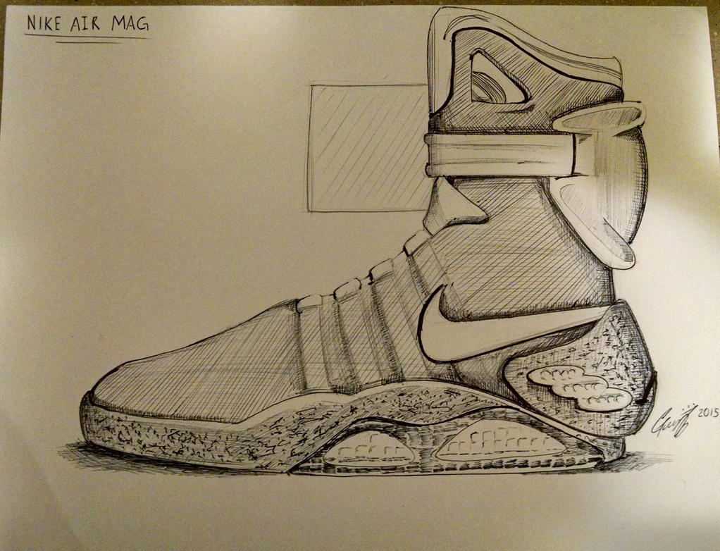 back to the future nike air mag shoes by chatoanimations