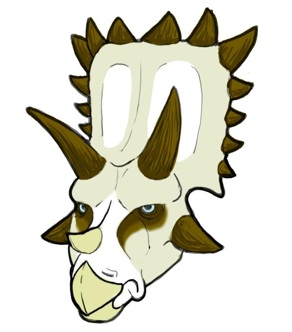Grumpyceratops by raven-amos