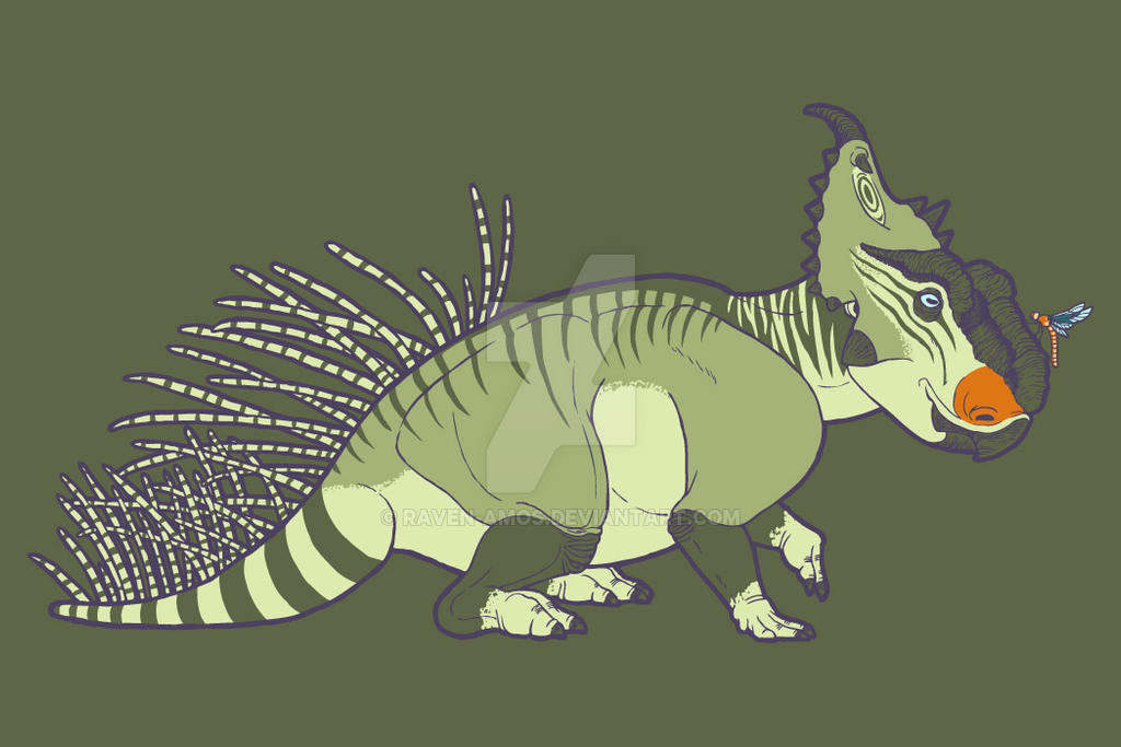 Pachyrhinosaurus and Friend Neatorama Shirt Design by raven-amos