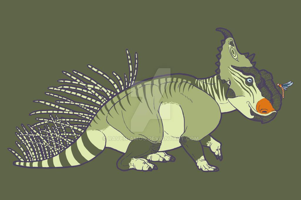 Pachyrhinosaurus and Friend Neatorama Shirt Design by raven-amos