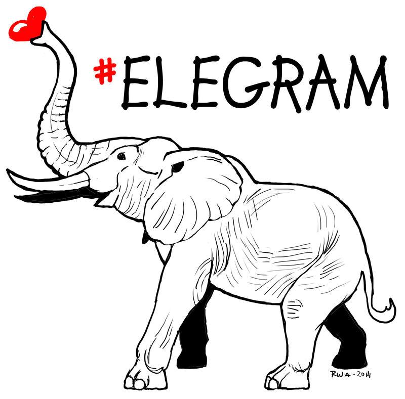 #Elegrams Help Save Elephants by raven-amos