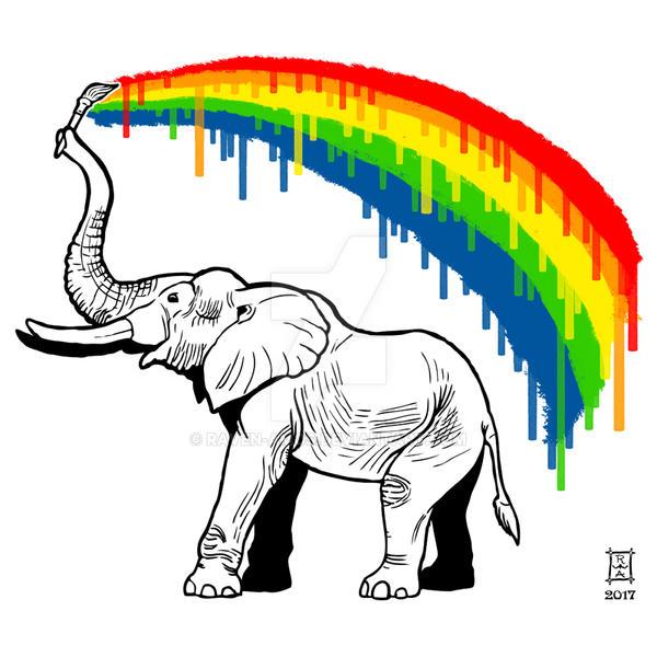 Elephant's Rainbow by raven-amos
