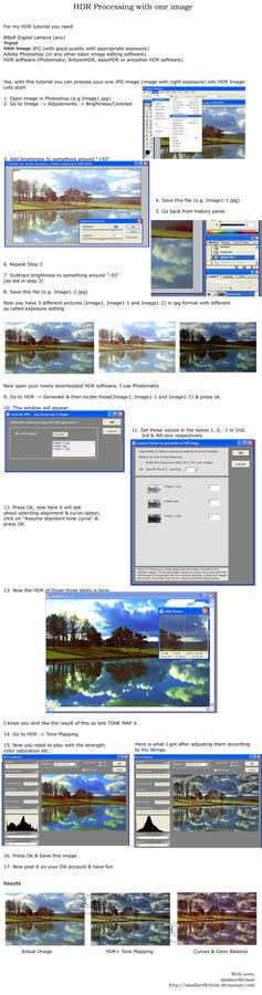 Imageprocessing with HDR Sftwr