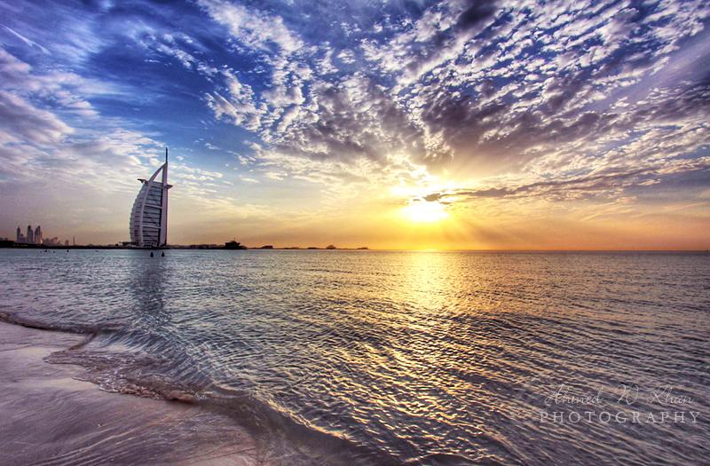 Sunset at Burj al Arab by ahmedwkhan