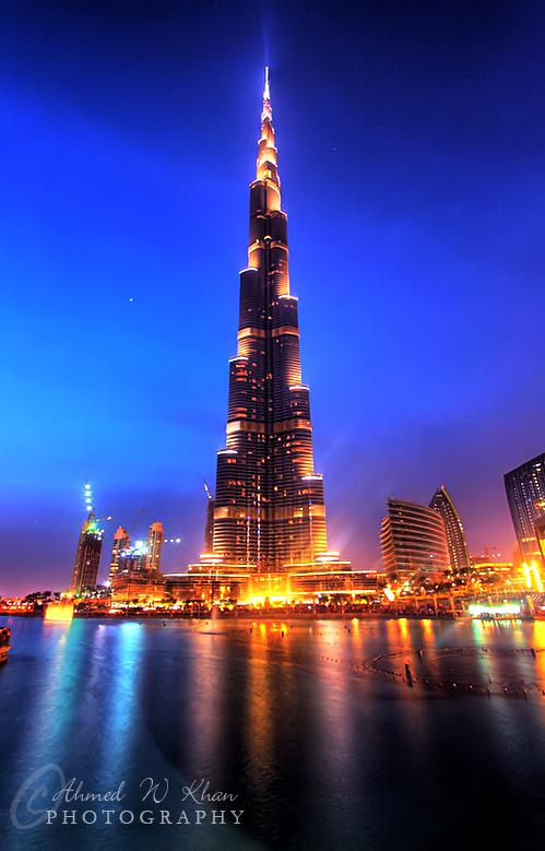 Sunset at Burj Khalifa by ahmedwkhan
