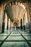 Badshahi Masjid - inside view II by ahmedwkhan