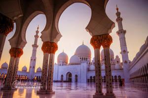 Sunset at Sheikh Zayed Grand Masjid