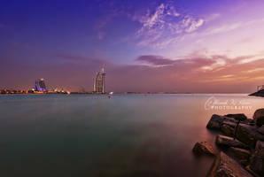 Sunset and Burj al Arab