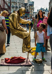 Child and gloden man 071470 by meriwani