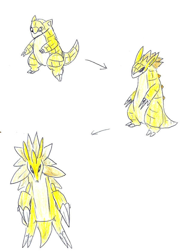 Sandshrew to Sandslash entry by Herakutremlan on DeviantArt