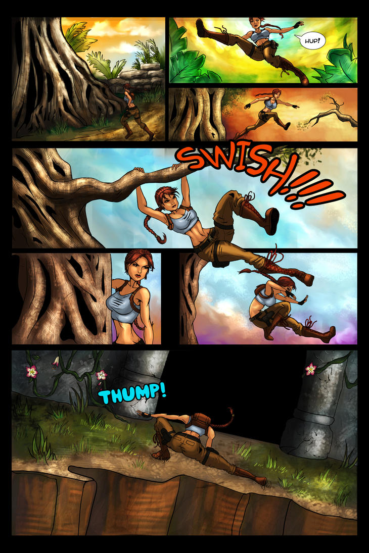 Tomb Raider Comic Collab by MelonieMac