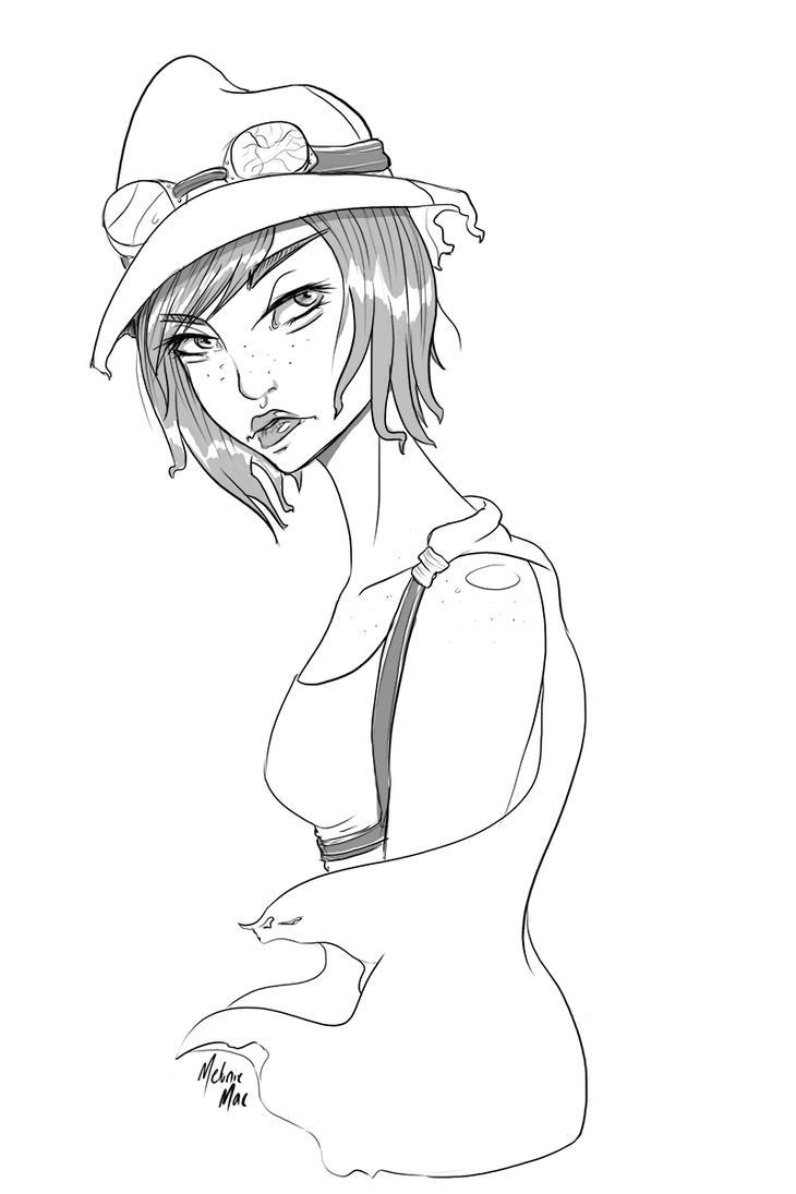 Iris Sketch by MelonieMac