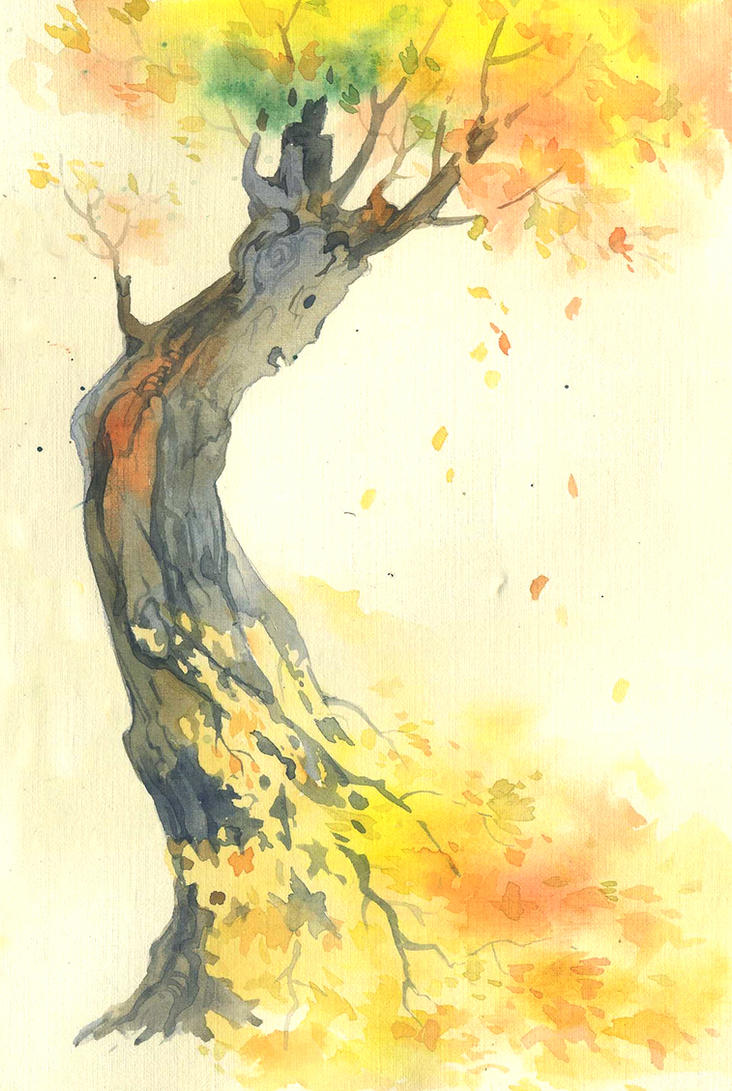 Watercolor sketch. A loss by Last-Valentine