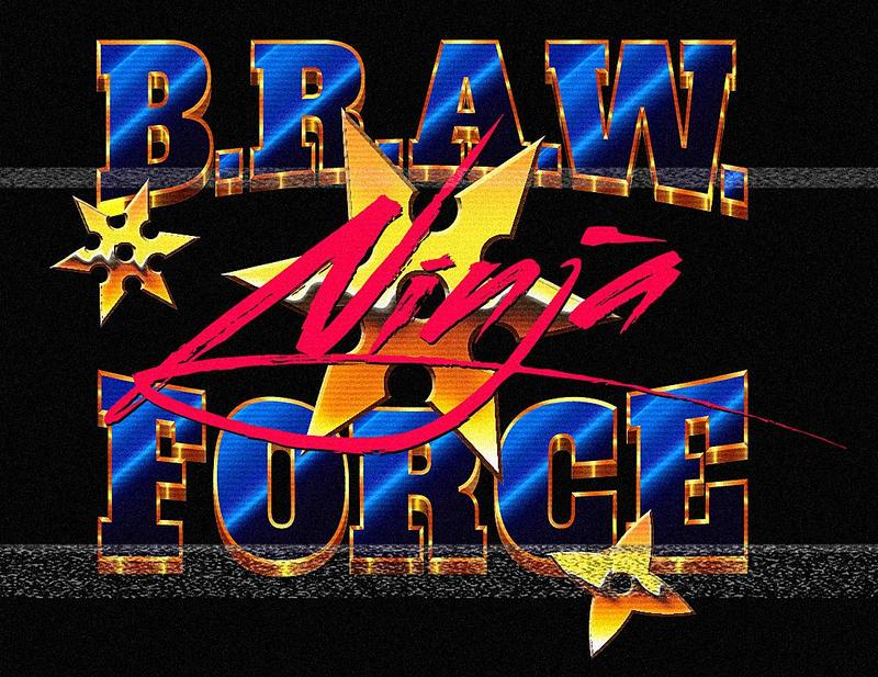 80s BRAW Ninja Force Shirt Design by Bulletrider80s