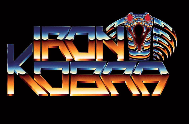 Iron Kobra 80s chrome logo by Bulletrider80s
