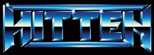 Hitten - 80s chrome heavy metal logo
