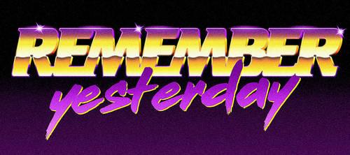 80s logo - Remember Yesterday
