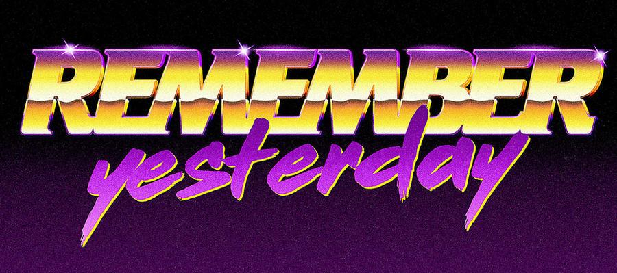 80s logo - Remember Yesterday by Bulletrider80s