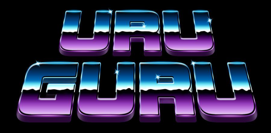 80s chrome logo - Uru Guru by Bulletrider80s