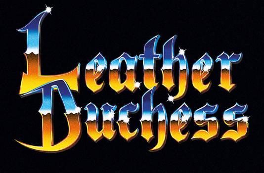 Leather Duchess - 80s chrome metal logo