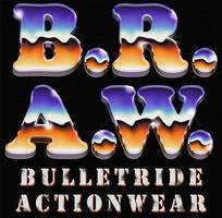 B.R.A.W. 70s / 80s chrome styled retro logo
