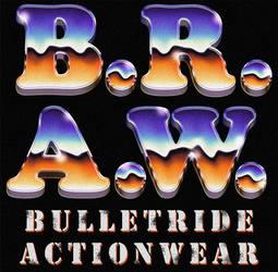 B.R.A.W. 70s / 80s chrome styled retro logo by Bulletrider80s