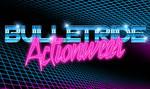 80s retrowave chrome and neon