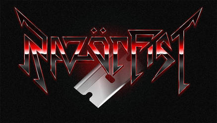 RazorFist - retro 80s styled heavy metal logo