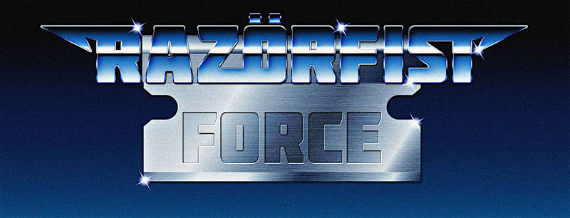 RazorFist Force - 80s chrome logo