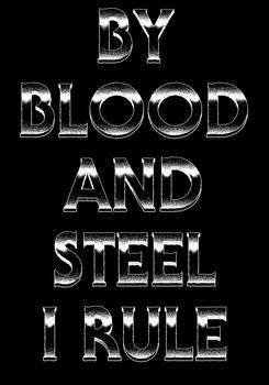 Bal Sagoth - By Blood And Steel I Rule (backprint)
