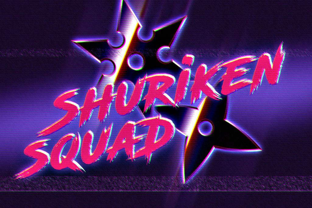 SHURIKEN SQUAD - 80s logo by Bulletrider80s