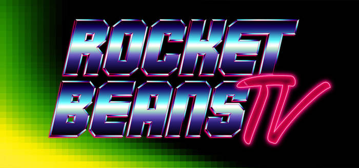 RBTV / Rocket Beans TV -  80s 90s metallic logo by Bulletrider80s