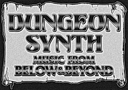 Vintage Dungeonsynth Logo-Scroll