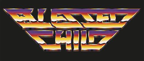 Blessed Child - 80s retro chrome logo
