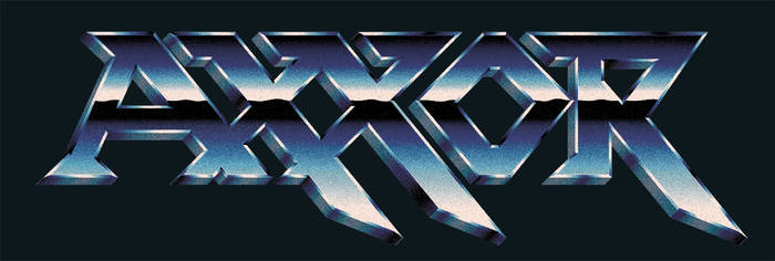 AXXOR - 80s chrome styled band logo