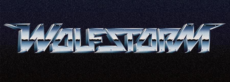 80s chrome style logo - WOLFSTORM