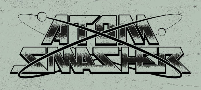 ATOM SMASHER - metal band logo