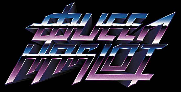 80s retro chrome logo - QUEEN HARLOT