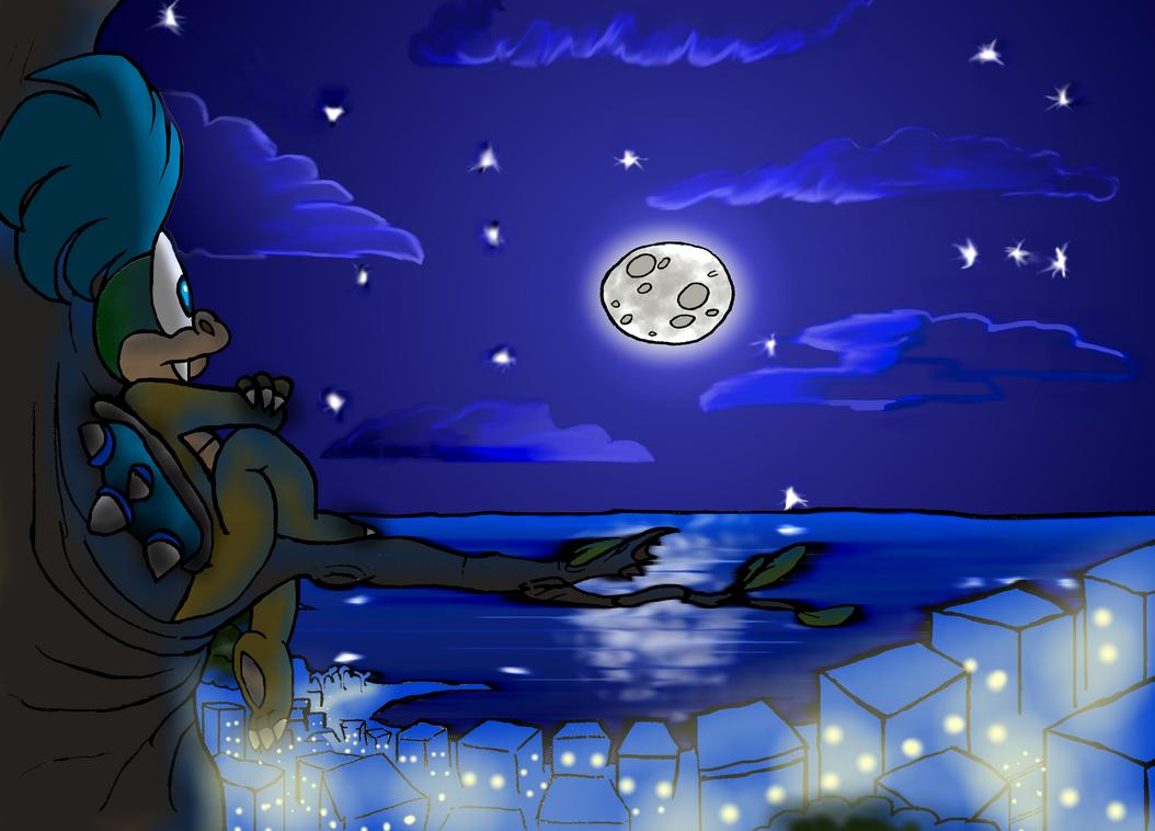 larry at night by Saphytrix