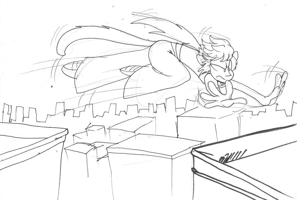 jump sketch by Saphytrix