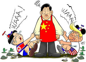 my first political cartoon